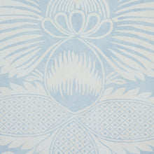 Load image into Gallery viewer, Schumacher Villandry Damask Print Wallpaper 5011750 / Blue
