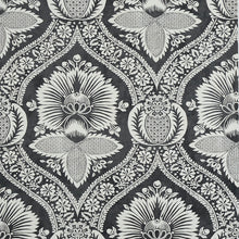 Load image into Gallery viewer, Schumacher Villandry Damask Print Wallpaper 5011752 / Black