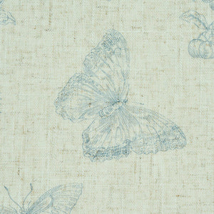 Schumacher Baudin Butterfly Linen Wallpaper 5011831 / Blue