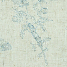 Load image into Gallery viewer, Schumacher Baudin Butterfly Linen Wallpaper 5011831 / Blue