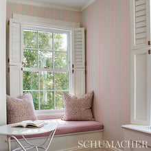 Load image into Gallery viewer, Schumacher Edwin Stripe Narrow Wallpaper 5011861 / Lavender