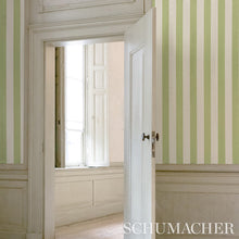 Load image into Gallery viewer, Schumacher Edwin Stripe Wide Wallpaper 5011902 / Mineral