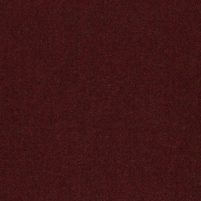 SCHUMACHER JERMYN SOLID FLANNEL FABRIC 50315 / MAROON