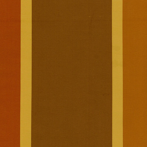 SCHUMACHER OLIVIA SILK STRIPE FABRIC 52702 / SIENNA