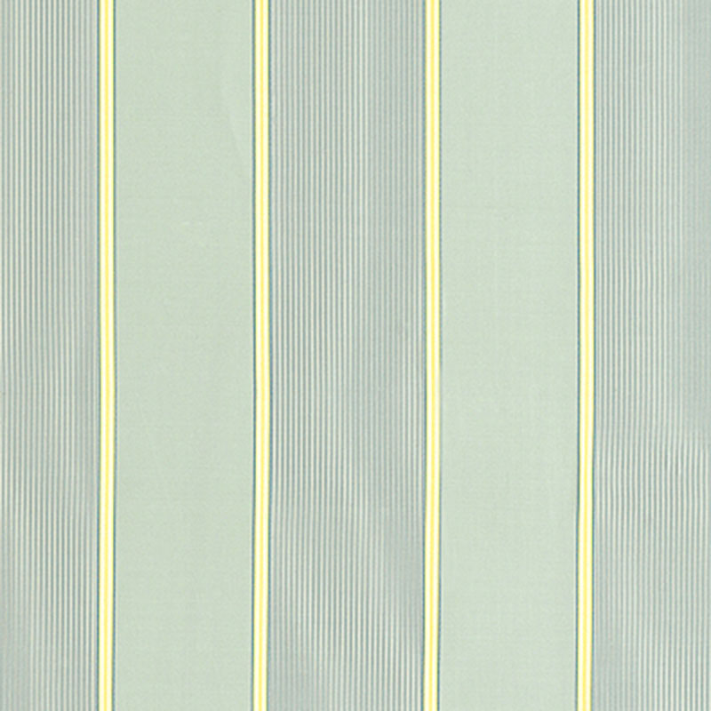 SCHUMACHER SOPHIA SILK STRIPE FABRIC 52710 / AQUA