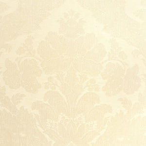 SCHUMACHER RUFINA DAMASK FABRIC 55572 / IVORY