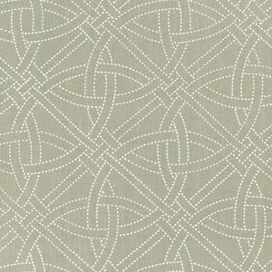 SCHUMACHER DURANCE EMBROIDERY FABRIC 55693 / MINERAL
