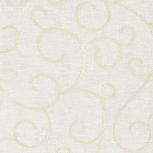 SCHUMACHER ADINA SHEER EMBROIDERY FABRIC 55980 / PARCHMENT