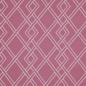 Alton Pink Geometric Upholstery Fabric / Blossom