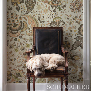 Schumacher Majorelle Wallpaper 5011352 / Neutral