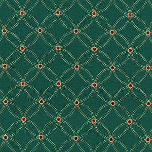 SCHUMACHER NEXUS EMBROIDERY FABRIC 62252 / SMOKY TEAL