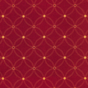 SCHUMACHER NEXUS EMBROIDERY FABRIC 62253 / PERSIMMON
