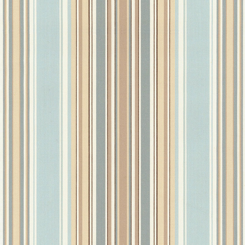 SCHUMACHER RIDGE STRIPE FABRIC 62372 / MINERAL