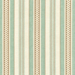 SCHUMACHER WILTSHIRE STRIPE FABRIC 62500 / AQUA