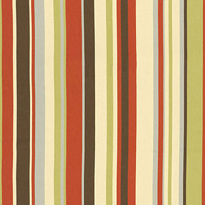 SCHUMACHER DELRAY STRIPE INDOOR OUTDOOR FABRIC 62893 / CABANA