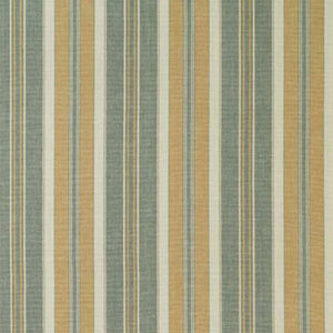 SCHUMACHER HUDSON STRIPE FABRIC 63432 / AQUA