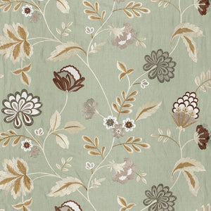 SCHUMACHER PALAMPORE EMBROIDERY FABRIC 64840 / MINERAL