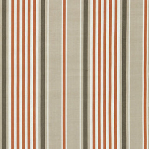 SCHUMACHER MINZER COTTON STRIPE FABRIC 66010 / VALENCIA