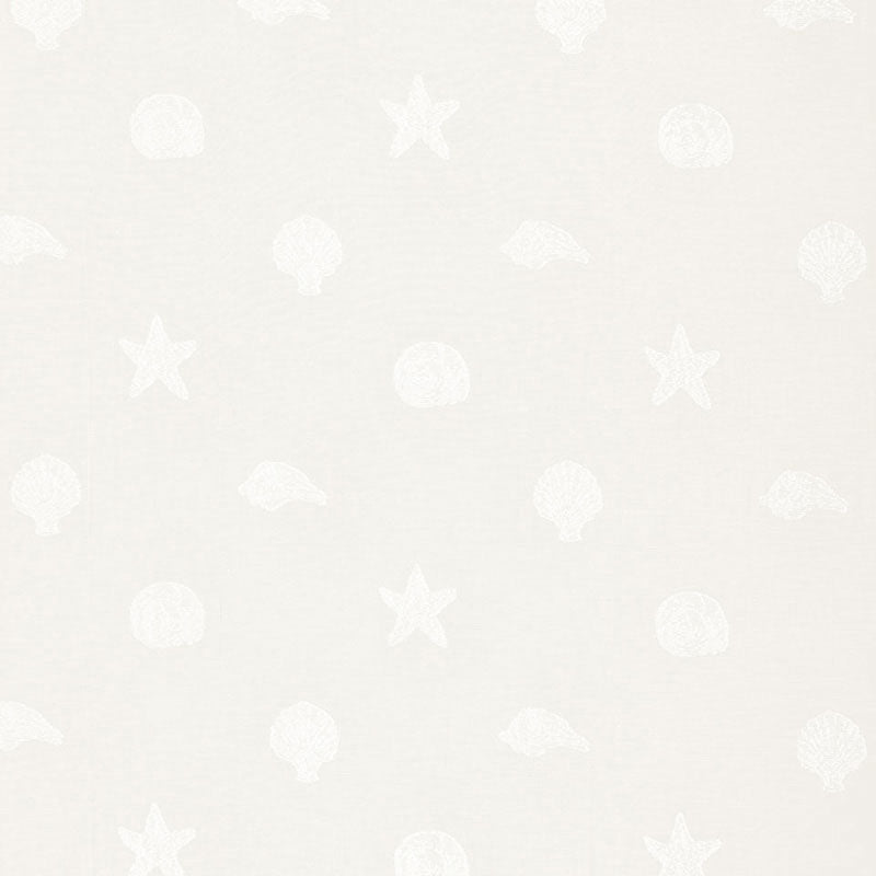 SCHUMACHER SANIBEL MADRAS FABRIC 66320 / IVORY