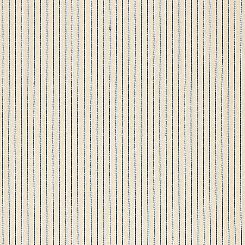 SCHUMACHER RAIN SHADOW STRIPE FABRIC 67502 / INDIGO