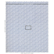 Load image into Gallery viewer, SCHUMACHER MEANDER EMBROIDERY FABRIC 67603 / BLUE ON IVORY