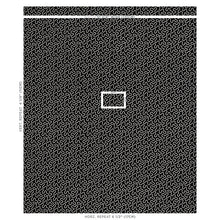 Load image into Gallery viewer, SCHUMACHER MEANDER EMBROIDERY FABRIC 67605 / BLACK