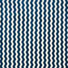 Load image into Gallery viewer, SCHUMACHER THE WAVE VELVET FABRIC 69423 / NAVY