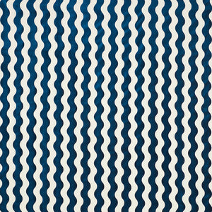 SCHUMACHER THE WAVE VELVET FABRIC 69423 / NAVY