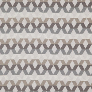Di Lido Light Gray Taupe Beige Geometric Upholstery Fabric / Oyster