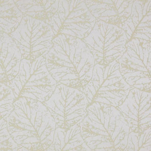 Tree House Light Gold Cream Botanical Abstract Leaf Drapery Fabric / Parchment