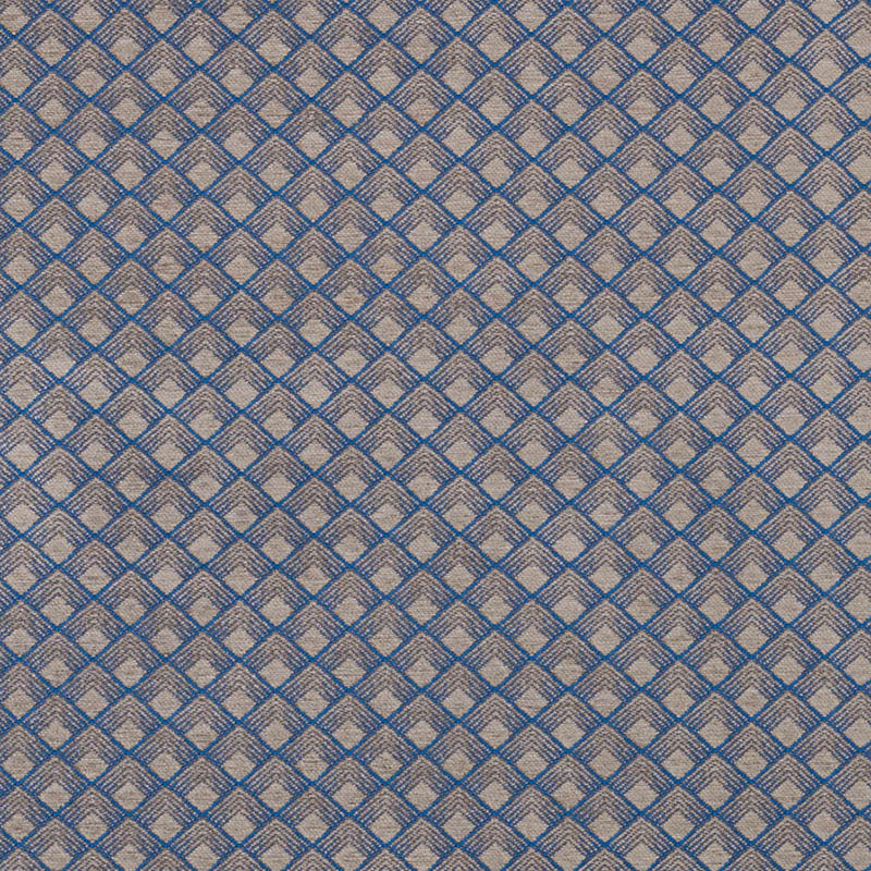 SCHUMACHER MORGAN FABRIC 71172 / STEEL BLUE