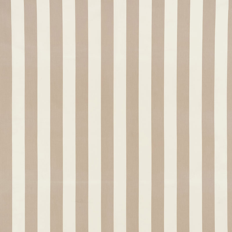 SCHUMACHER ANDY STRIPE FABRIC 71322 / TAUPE