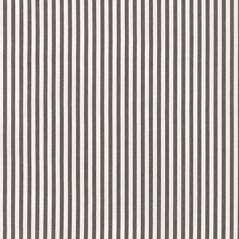 SCHUMACHER BRIGITTE STRIPE FABRIC 71341 / CHARCOAL