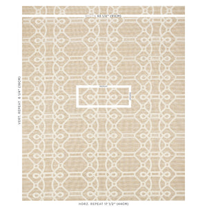 SCHUMACHER ZIZ EMBROIDERY FABRIC 71934 / NATURAL