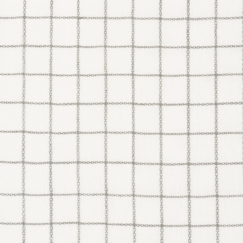 SCHUMACHER AGNES SHEER FABRIC 72081 / GRISAILLE