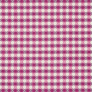 SCHUMACHER CHECKMATE FABRIC 73433 / BERRY