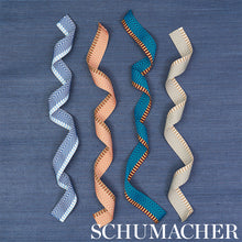 Load image into Gallery viewer, Schumacher Chevron Twill Tape Trim 76114 / Peacock