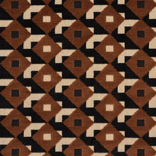 Load image into Gallery viewer, SCHUMACHER DAZZLE SHIP VELVET FABRIC 77242 / BROWN & BLACK