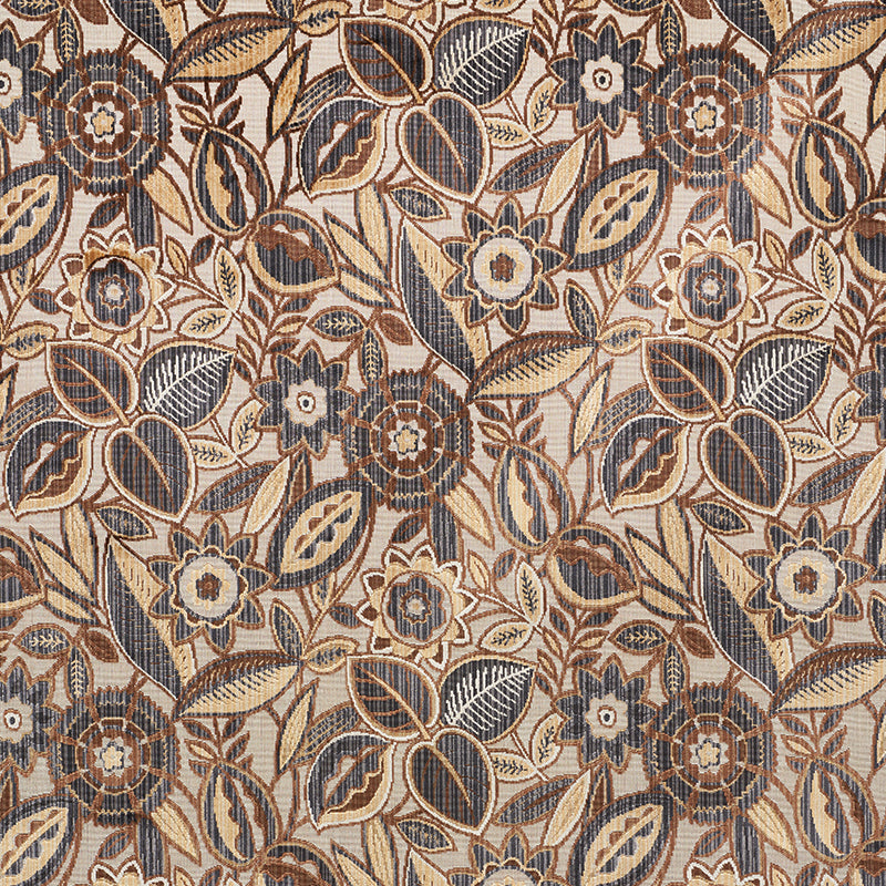 SCHUMACHER GARLAND VELVET FABRIC 77760 / NEUTRAL