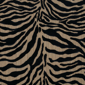 Schumacher Regine Strie Velvet Fabric 77771 / Ebony