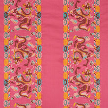 Load image into Gallery viewer, SCHUMACHER LOTAN DRAGON EMBROIDERY FABRIC 78092 / PINK