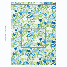 Load image into Gallery viewer, SCHUMACHER CREWEL GARDEN FABRIC 78290 / SKY