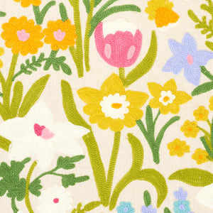 SCHUMACHER CREWEL GARDEN FABRIC 78291 / MULTI