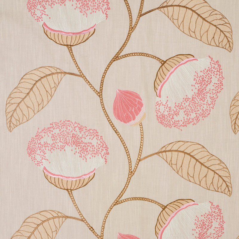 SCHUMACHER CELINDA EMBROIDERY FABRIC 78302 / BLUSH