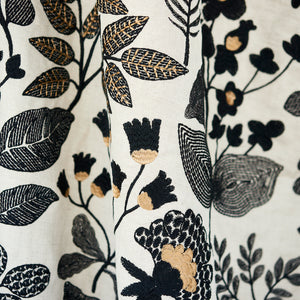 SCHUMACHER EMALINE EMBROIDERY FABRIC 78312 / BLACK