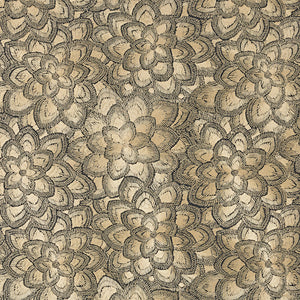 SCHUMACHER LOTUS EMBROIDERY FABRIC 78340 / GOLD