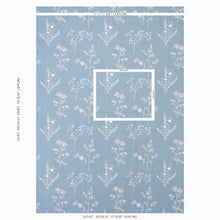 Load image into Gallery viewer, SCHUMACHER LISBETH EMBROIDERY FABRIC 78360 / BLUE