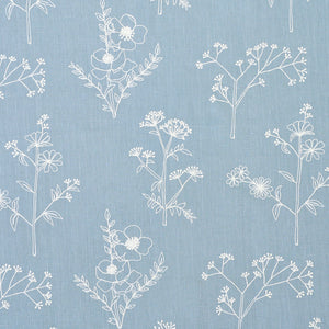 SCHUMACHER LISBETH EMBROIDERY FABRIC 78360 / BLUE
