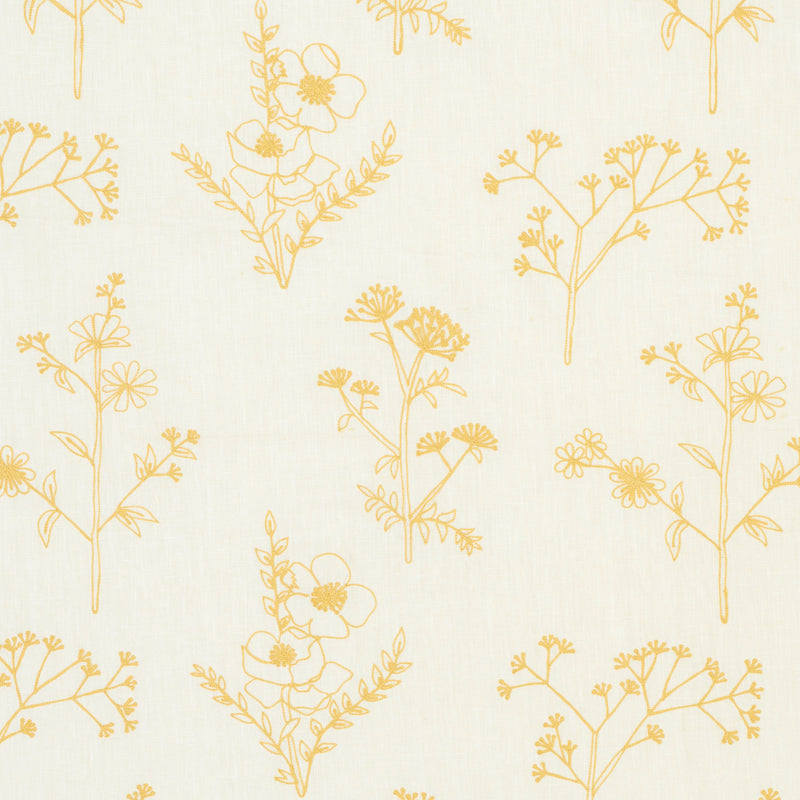 SCHUMACHER LISBETH EMBROIDERY FABRIC 78362 / MARIGOLD