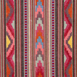 SCHUMACHER ZARZUELA STRIPE EMBROIDERY FABRIC 78392 / MULTI